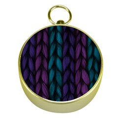 Background Weave Plait Blue Purple Gold Compasses