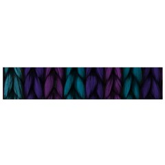Background Weave Plait Blue Purple Small Flano Scarf