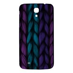 Background Weave Plait Blue Purple Samsung Galaxy Mega I9200 Hardshell Back Case