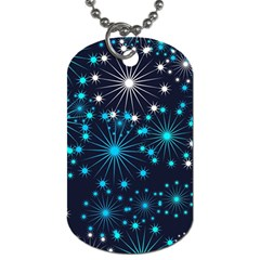 Wallpaper Background Abstract Dog Tag (one Side)