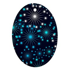 Wallpaper Background Abstract Oval Ornament (two Sides)