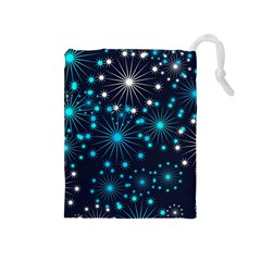 Wallpaper Background Abstract Drawstring Pouches (medium)