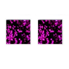 Abstract Background Purple Bright Cufflinks (square)