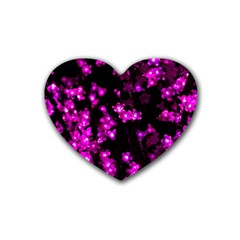 Abstract Background Purple Bright Heart Coaster (4 Pack)