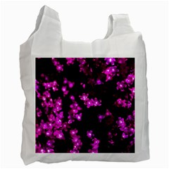 Abstract Background Purple Bright Recycle Bag (two Side)
