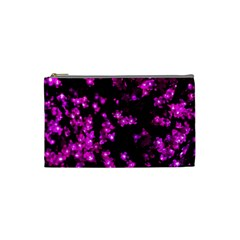 Abstract Background Purple Bright Cosmetic Bag (small)