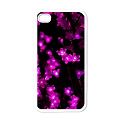 Abstract Background Purple Bright Apple Iphone 4 Case (white)