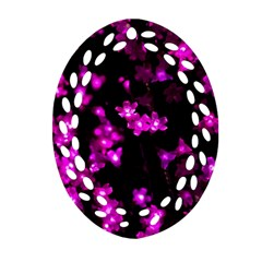 Abstract Background Purple Bright Oval Filigree Ornament (two Sides)