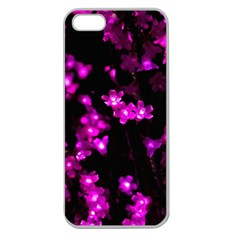 Abstract Background Purple Bright Apple Seamless Iphone 5 Case (clear)