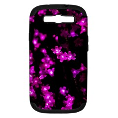 Abstract Background Purple Bright Samsung Galaxy S Iii Hardshell Case (pc+silicone)