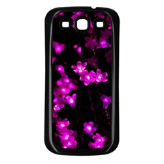 Abstract Background Purple Bright Samsung Galaxy S3 Back Case (black)