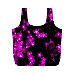 Abstract Background Purple Bright Full Print Recycle Bags (m)
