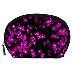 Abstract Background Purple Bright Accessory Pouches (large)