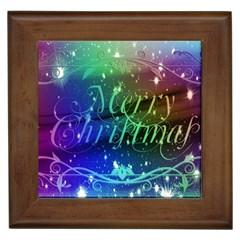Christmas Greeting Card Frame Framed Tiles