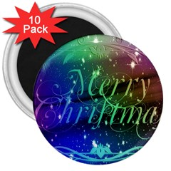 Christmas Greeting Card Frame 3  Magnets (10 Pack)
