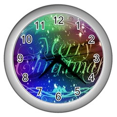 Christmas Greeting Card Frame Wall Clocks (silver)