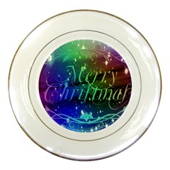 Christmas Greeting Card Frame Porcelain Plates