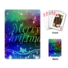 Christmas Greeting Card Frame Playing Card