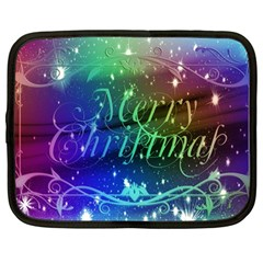 Christmas Greeting Card Frame Netbook Case (large)