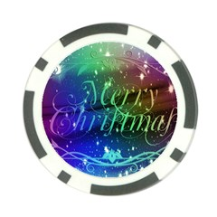 Christmas Greeting Card Frame Poker Chip Card Guard (10 Pack)