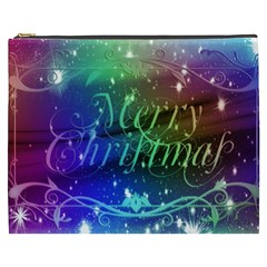 Christmas Greeting Card Frame Cosmetic Bag (xxxl)