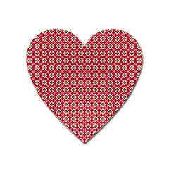Christmas Wrapping Paper Heart Magnet