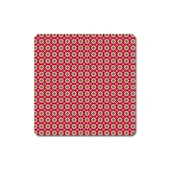 Christmas Wrapping Paper Square Magnet