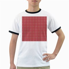 Christmas Wrapping Paper Ringer T Shirts