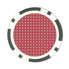 Christmas Wrapping Paper Poker Chip Card Guard (10 Pack)
