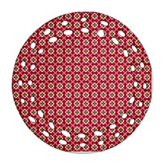 Christmas Wrapping Paper Ornament (round Filigree)