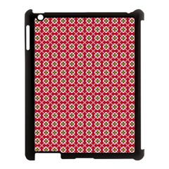 Christmas Wrapping Paper Apple Ipad 3/4 Case (black)