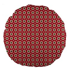 Christmas Wrapping Paper Large 18  Premium Round Cushions