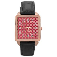 Christmas Wrapping Paper Rose Gold Leather Watch