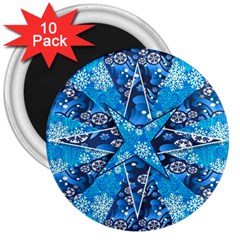 Christmas Background Wallpaper 3  Magnets (10 Pack)
