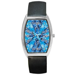 Christmas Background Wallpaper Barrel Style Metal Watch