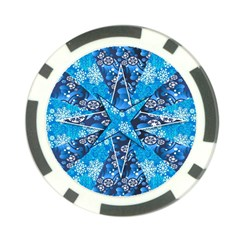 Christmas Background Wallpaper Poker Chip Card Guard (10 Pack)