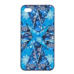 Christmas Background Wallpaper Apple Iphone 4/4s Seamless Case (black)