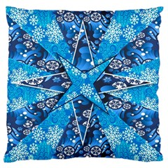 Christmas Background Wallpaper Large Cushion Case (one Side)