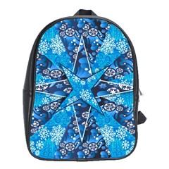 Christmas Background Wallpaper School Bag (xl)