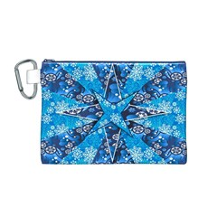 Christmas Background Wallpaper Canvas Cosmetic Bag (m)