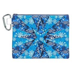 Christmas Background Wallpaper Canvas Cosmetic Bag (xxl)