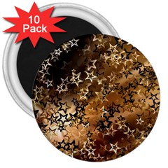 Star Sky Graphic Night Background 3  Magnets (10 Pack)