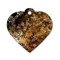 Star Sky Graphic Night Background Dog Tag Heart (one Side)