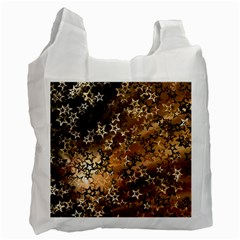 Star Sky Graphic Night Background Recycle Bag (two Side)