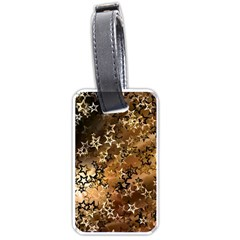 Star Sky Graphic Night Background Luggage Tags (one Side)