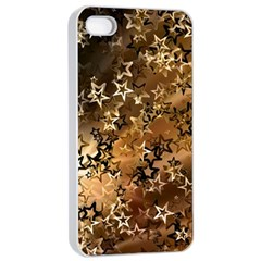 Star Sky Graphic Night Background Apple Iphone 4/4s Seamless Case (white)