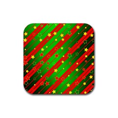 Star Sky Graphic Night Background Rubber Coaster (square)