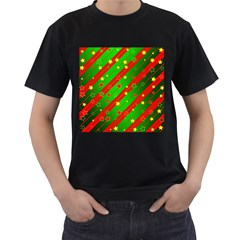 Star Sky Graphic Night Background Men s T Shirt (black) (two Sided)