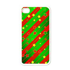 Star Sky Graphic Night Background Apple Iphone 4 Case (white)