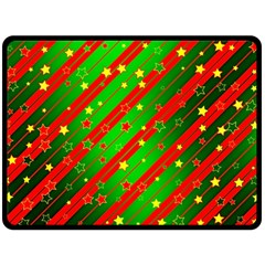 Star Sky Graphic Night Background Double Sided Fleece Blanket (large)